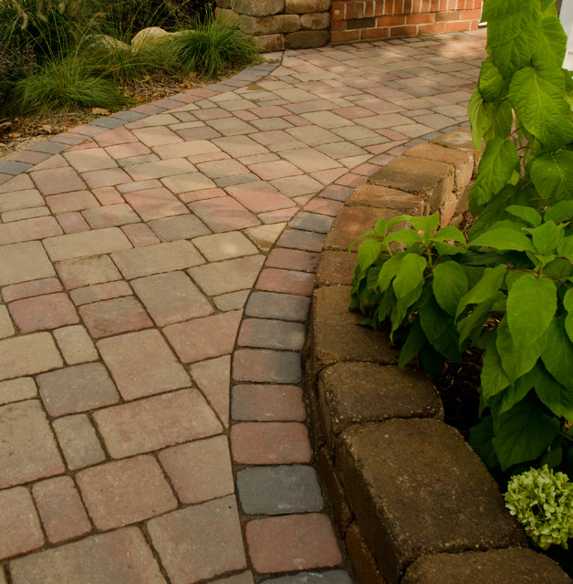 how to build steps with pavers on a slope