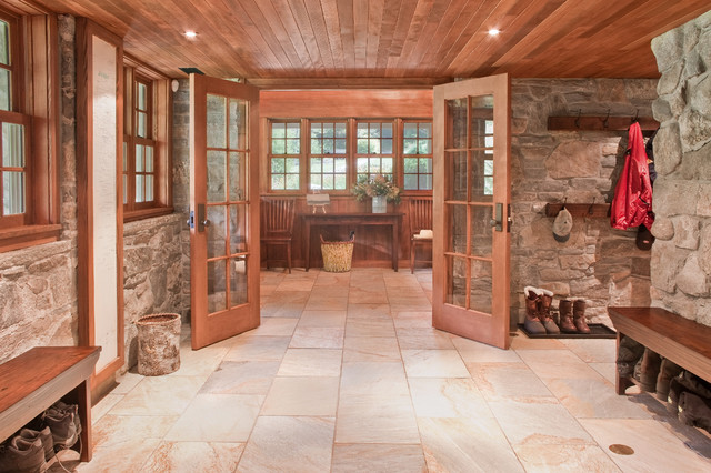 Entance Hall Mudroom Rustic Entry Boston By