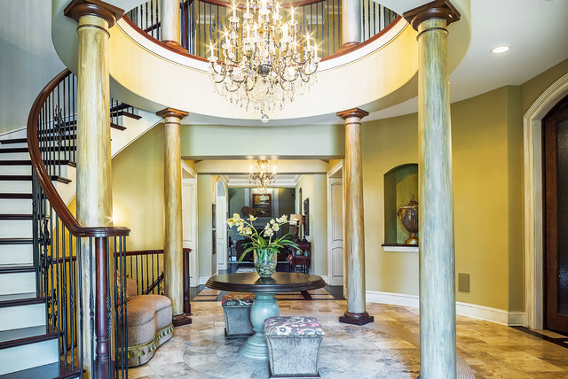Rolfe House Foyer : Entire home interior redesign project traditional