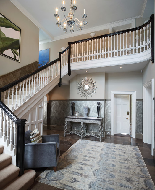Entrance Hall, Edwardian Country House - Eclectic ...
