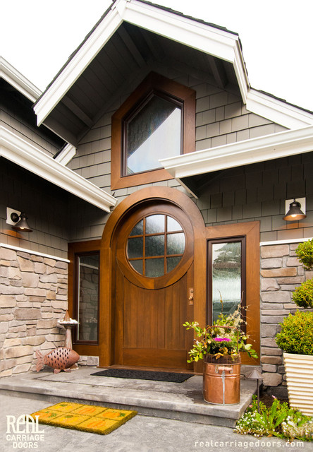 Entranceway Front Doors Eclectic Entry Seattle By