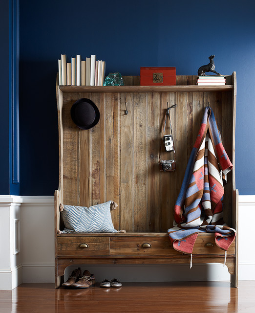 Entry Bench With Storage And Coat Rack Country