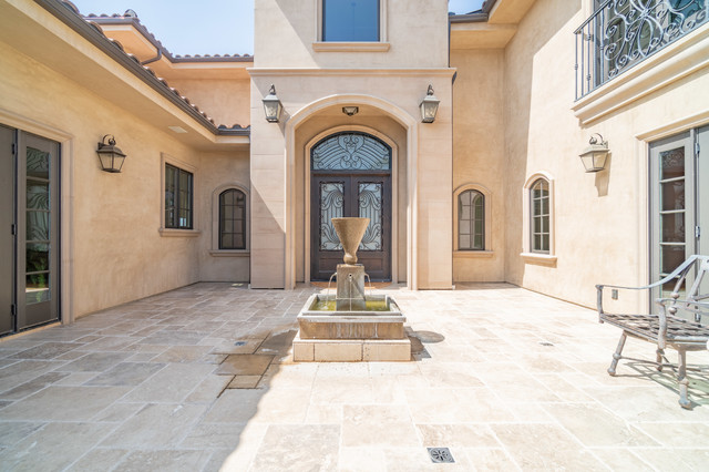 Inspiration for a mediterranean entryway remodel in Los Angeles