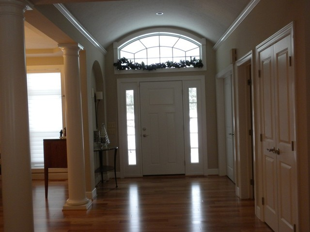 Entry Door With Sidelights And Transom Traditional Entry New York By Gerber Homes
