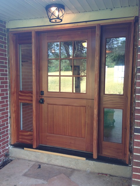 Entry doors and dutch doors front doors dc metro by for Large wooden front doors