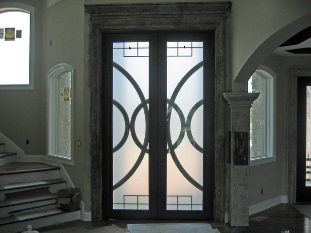 Entry Doors Contemporary Entry Chicago By Mueller Ornamental Iron Works Inc