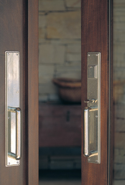 Entry double doors with Bronze Hardware - Traditional - Entry - other metro - by Rocky Mountain ...