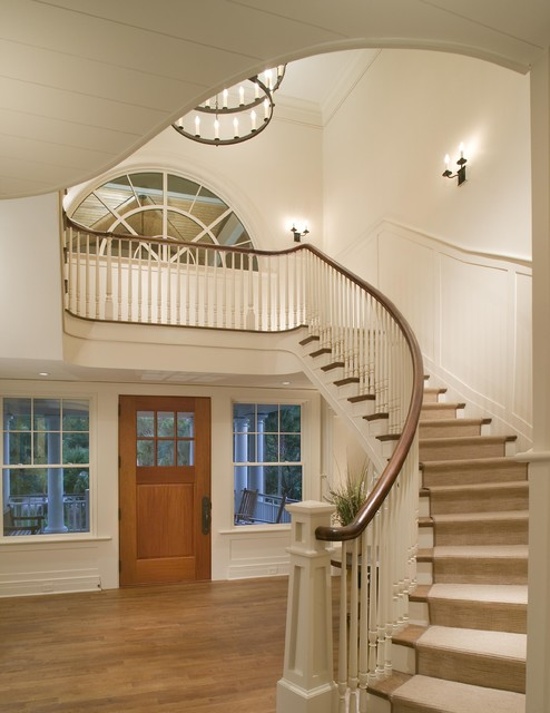 Foyer Staircase Questions : Entry foyer traditional charleston by