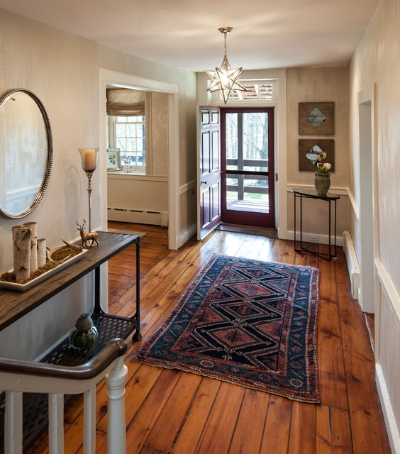 Entry foyer in 300 year old farmhouse danziger design for Foyer area interior