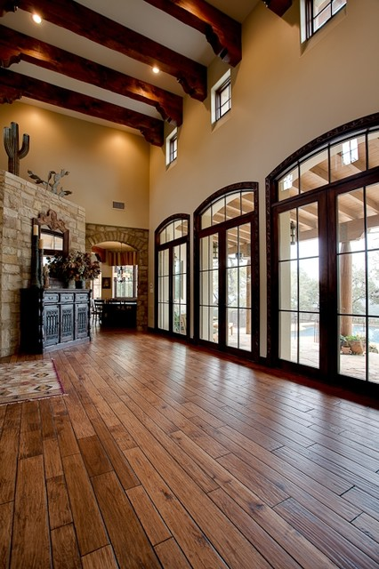 Foyer Architecture Quiz : Entry foyer mediterranean austin by rick o