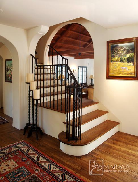 Entry Foyer Staircase mediterranean-entry
