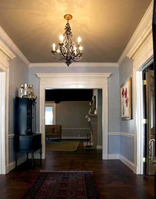 Entry Foyer Dimensions : Entry hall before after traditional dallas