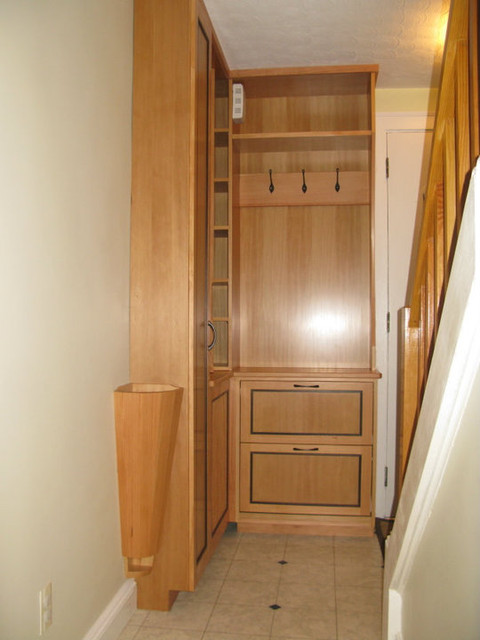 Entry hall cabinet - Contemporary - Entry - Boston - by Ugol Woodworks