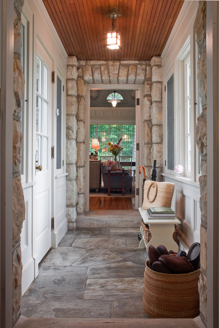 entry hall mudroom rustic entry boston by