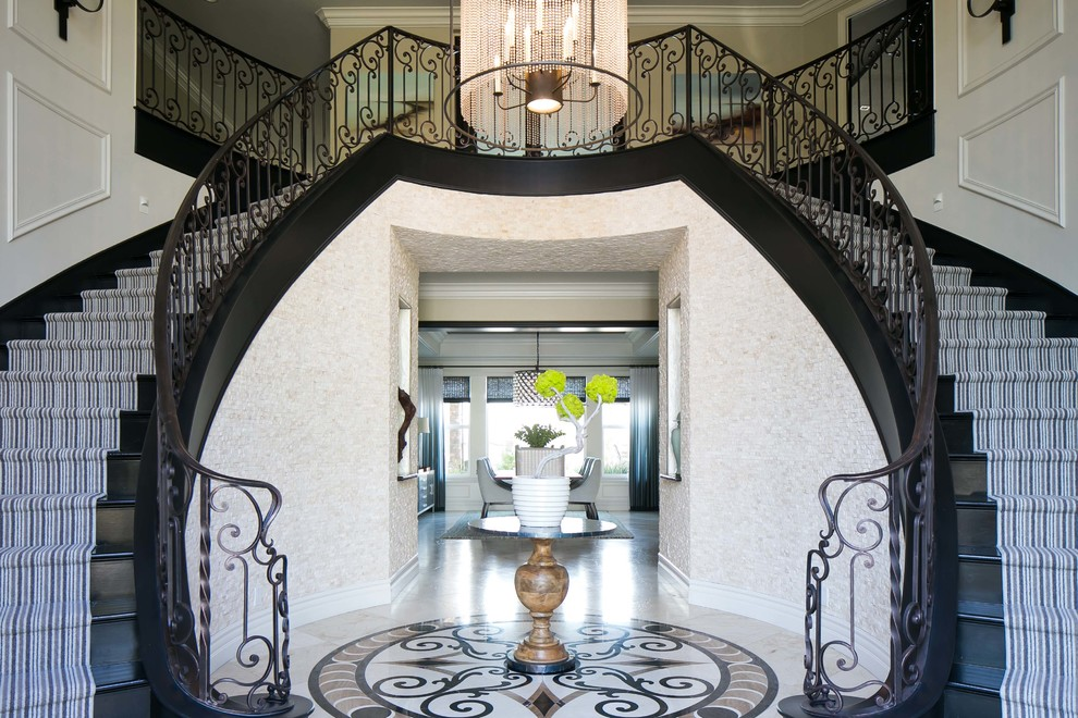 Inspiration for a contemporary entryway remodel in Orange County