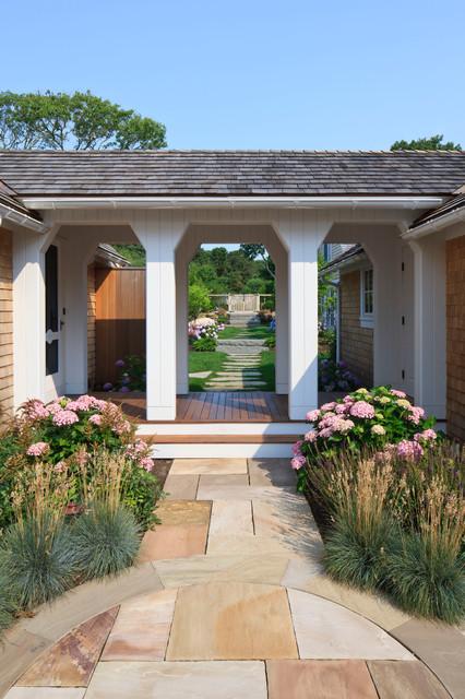 Double Detached Carport With Breezeway : Entry traditional boston by polhemus savery