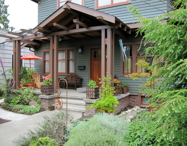 Entry Porch Traditional Porch Seattle By Tim