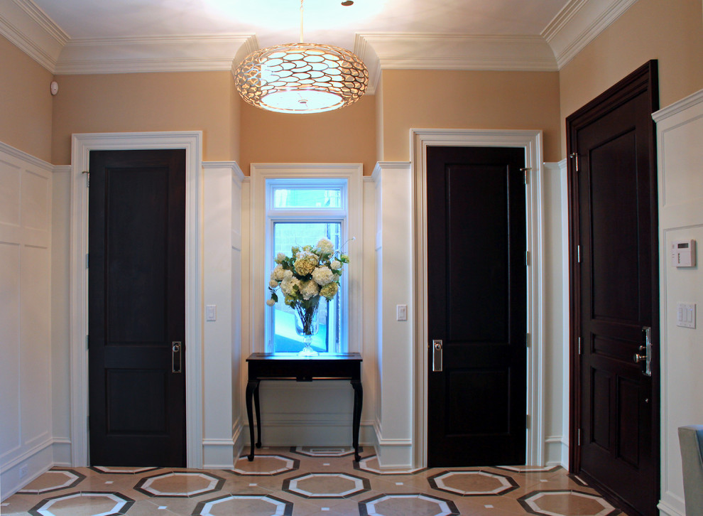 Inspiration for a contemporary entryway remodel in Chicago