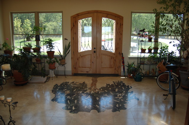 """""""Entry Tile"""" """"Mosaic"""" """"Inlaid Floor"""" """"Floor Tree"""" """"Marble Tree"""" traditional-entry"""
