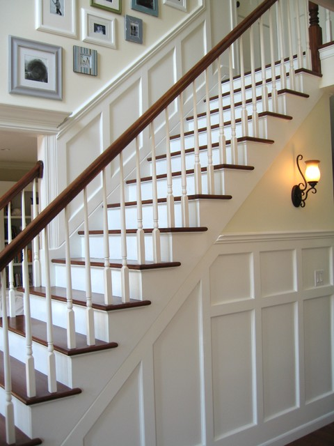 Entry wainscoting traditional-entry