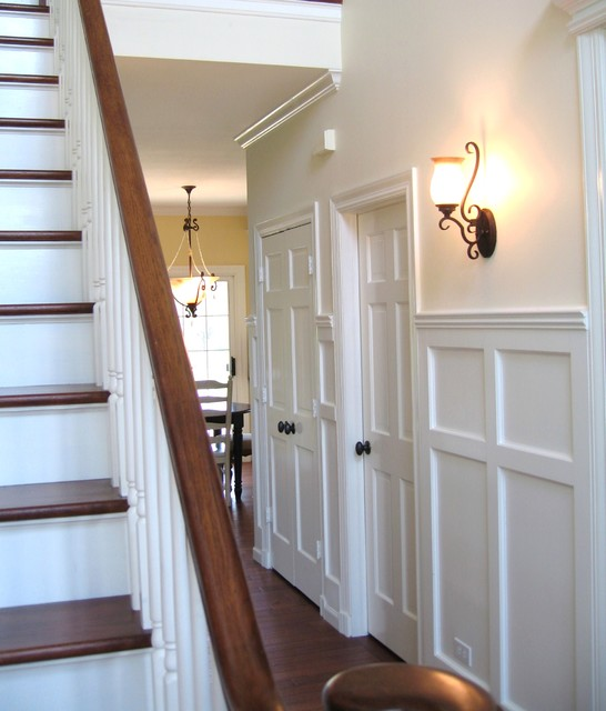 Entry wainscoting traditional entry