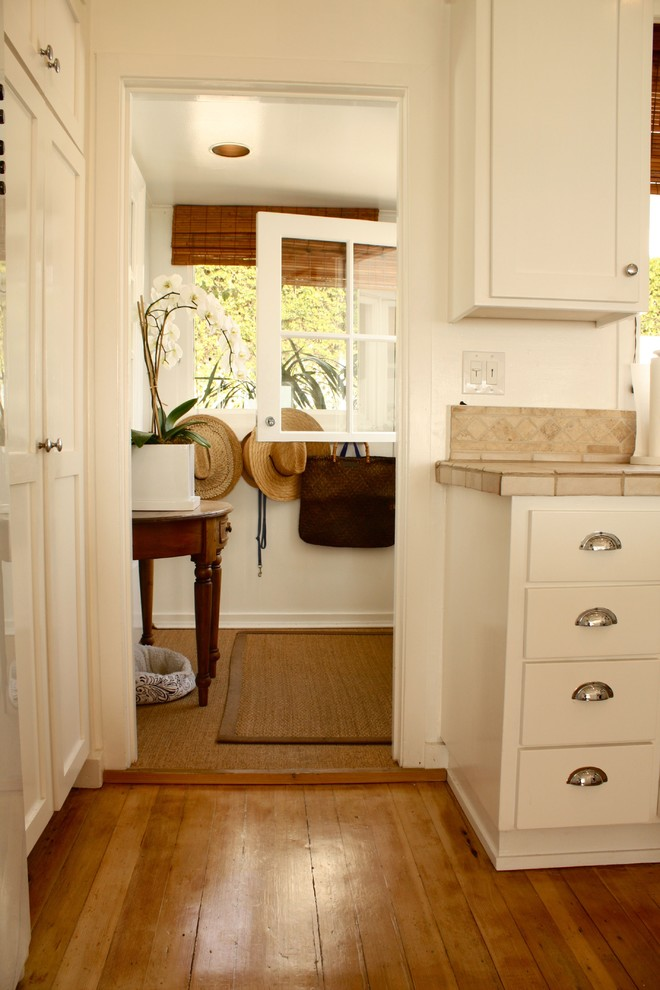 Inspiration for a timeless entryway remodel in Santa Barbara