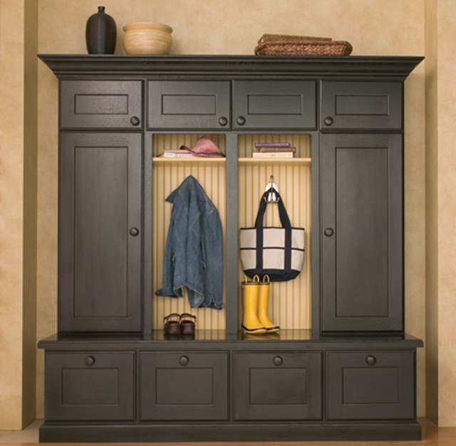 Foyer Mudroom Units : Entryway boot benches and mudroom lockers traditional
