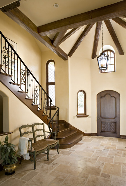 Travertine Foyer Design : Entryway contemporary entry other metro by claudio
