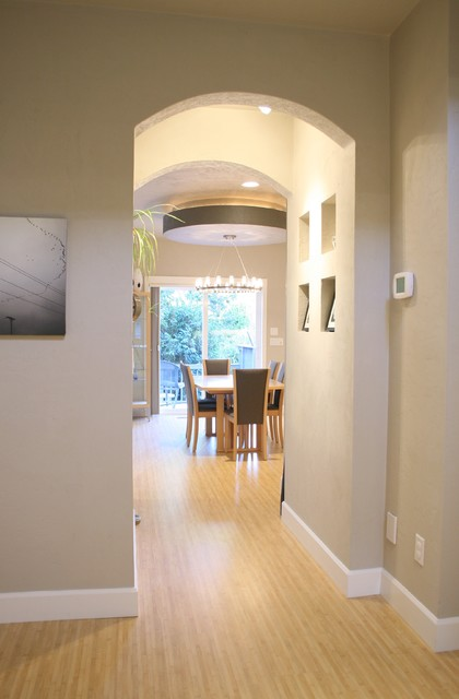 Entryway + Gallery Walkway with niches modern entry