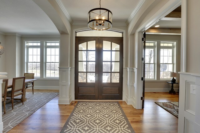Entryway kintyre model 2015 spring parade of homes for Transitional foyer ideas