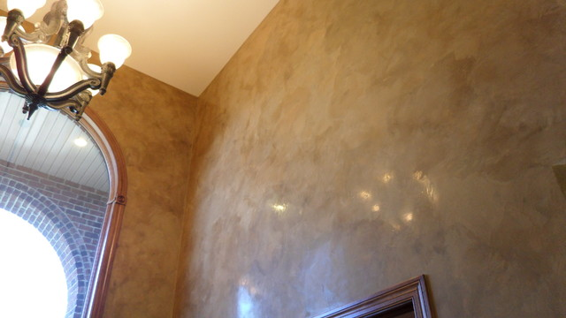 Faux Plaster Finish entryway walls - italian venetian plaster - bella faux finishes