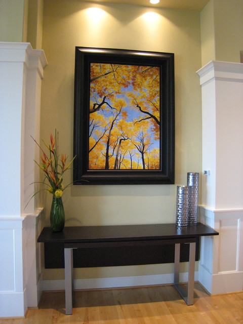 Entryway with contemporary extendable console table for Contemporary entryway table