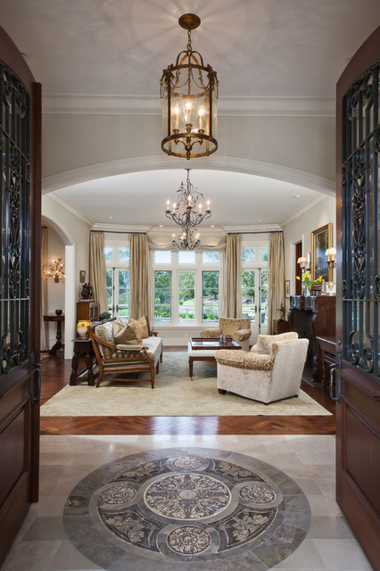 Entryway With Medallion Traditional Entry San