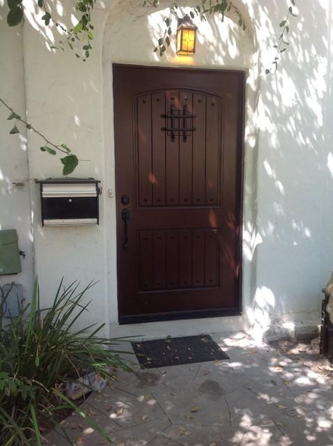 Escon Rustica Front Door with Emtek lock rustic-entry & Escon Rustica Front Door with Emtek lock - Rustic - Entry - Los ...