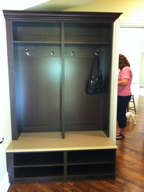 Espresso mud room storage - Transitional - Entry - Chicago - by ...