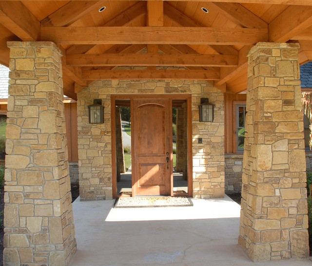 Eufaula Tumbled Stone Traditional Entry Oklahoma