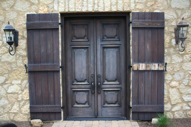 Exterior entry refinish