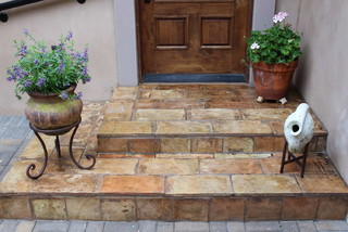 High Quality Exterior Steps With Reclaimed French Terracotta Parefeuille