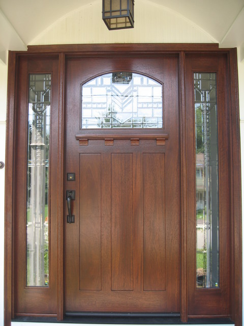 Exterior Wood Doors Craftsman Entry