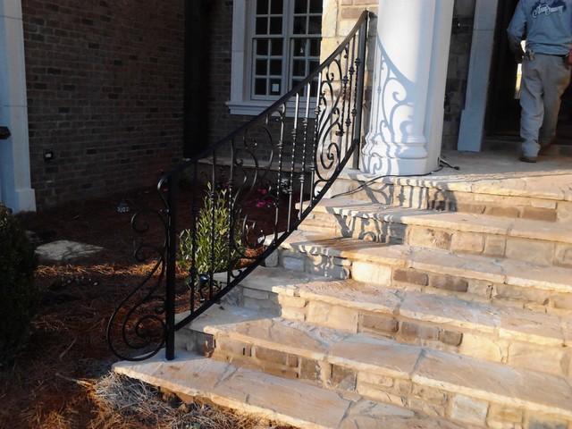Exterior Wrought Iron Handrail / Railing mediterranean-entry