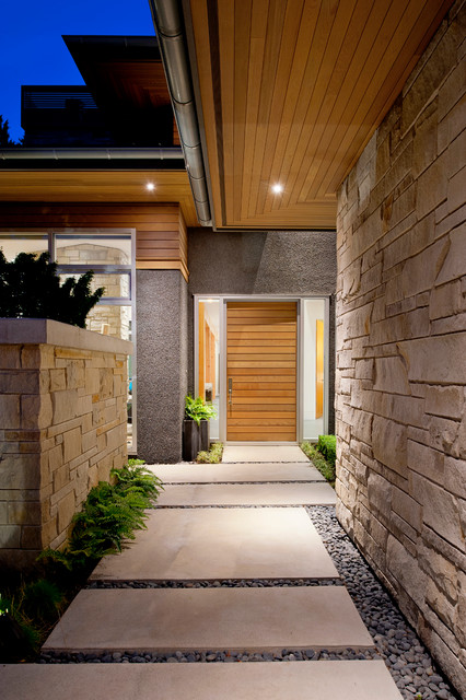 Exteriors Contemporary Entry Vancouver By Revival