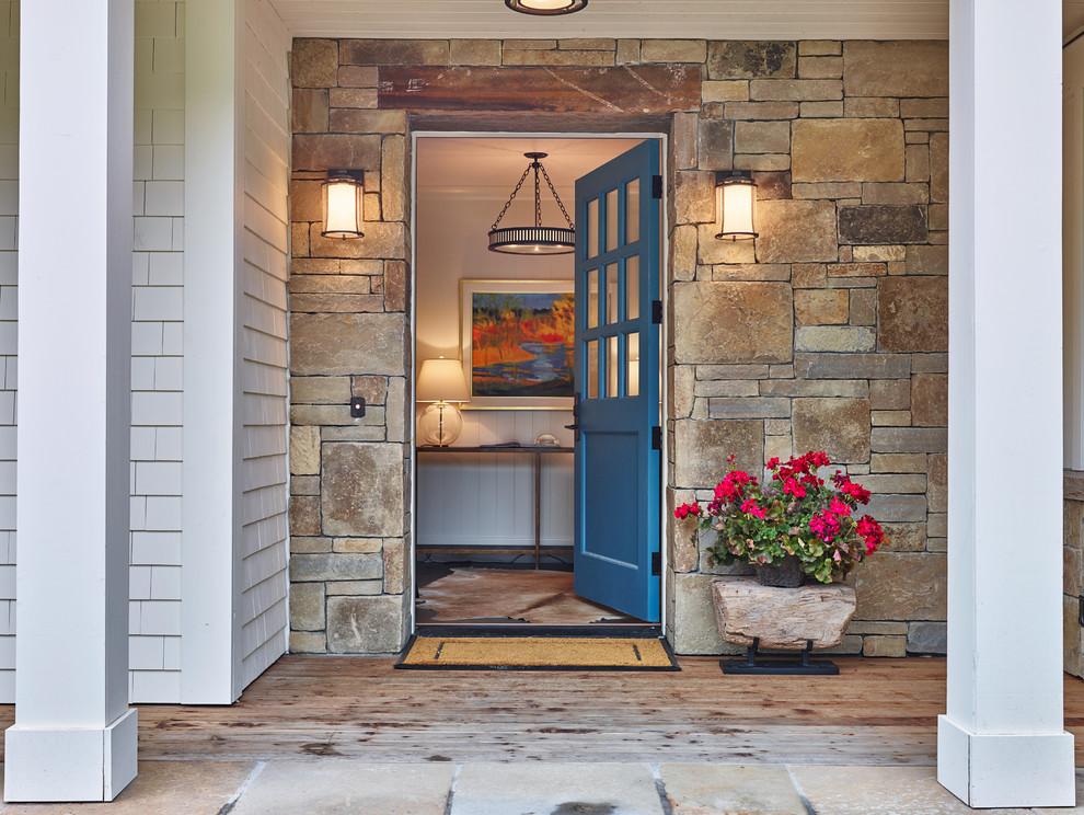 Entryway - rustic entryway idea in Other
