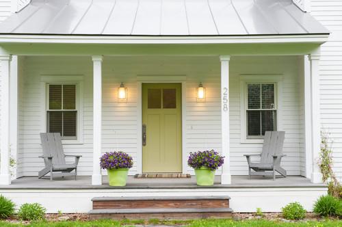 Tempting paint colors for the front door paint it monday for Prefab modern farmhouse