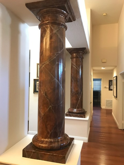 Inspiration for a mediterranean entryway remodel in Orange County