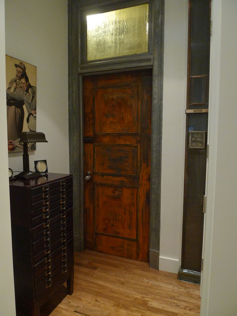 Faux Rusty Steel Door In A Manhattan Loft Eclectic Entry New York By