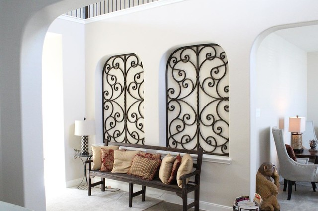 faux wrought iron art niche decor. Black Bedroom Furniture Sets. Home Design Ideas