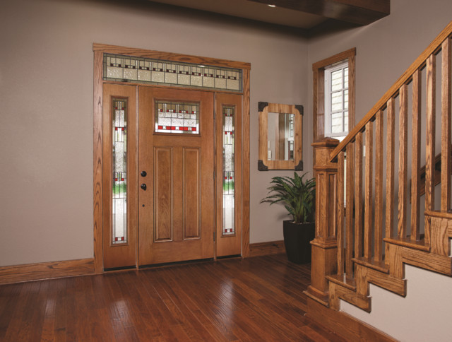 Fiber Classic Mahogany Door Sidelites And Transom Craftsman Entry Othe