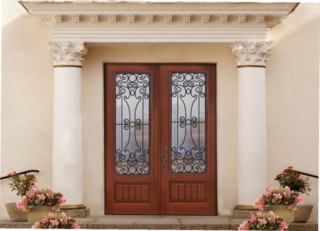 Fiberglass doors mediterranean entry tampa by us for Mediterranean interior doors