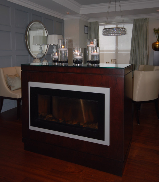Fireplaces contemporary-entry