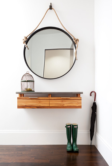 Modern Foyer Houzz : Floating console modern entry new york by wud